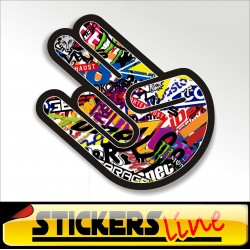 Stickers adesivo THE SHOCKER - STICKERS BOMB shocker hand stickersbomb M2 tuning