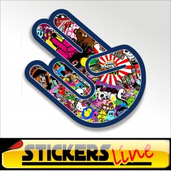 Stickers adesivo THE SHOCKER - STICKERS BOMB shocker hand stickersbomb M3 tuning