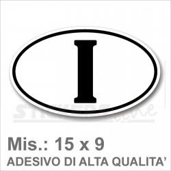 desivo ITALIA di Identificazione Nazione Residenza per Auto cm 15 x 9