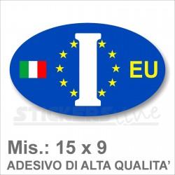 Adesivo ITALIA EUROPEO di Identificazione Nazione Residenza per Auto europa