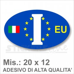 Adesivo ITALIA di Identificazione Nazione Residenza camper furgoni camion EU