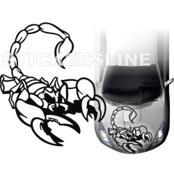 Adesivi auto tuning stickers decalcomanie SCORPION 2