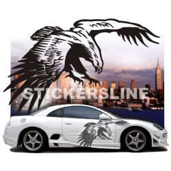 Adesivi auto tuning stickers decalcomanie EAGLE 3