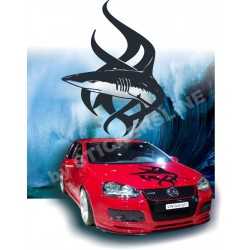 Adesivi auto tuning stickers TRIBAL SHARK cofano