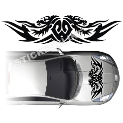 Adesivi auto tuning DRAGO 2 cofano car stickers dragon