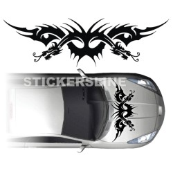 Adesivi auto tuning DRAGO 3 cofano car stickers