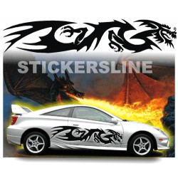 Adesivi auto tuning DRAGO 6 decalcomanie car stickers