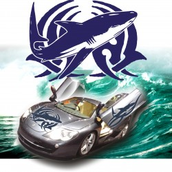 Adesivi auto tuning stickers TRIBAL SHARK 2 cofano