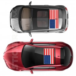 Adesivo tetto auto bandiera AMERICANA adesivi capote fuoristrada MIS. piccola