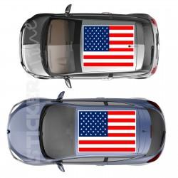 Adesivo tetto auto bandiera AMERICANA adesivi capote fuoristrada MIS. media