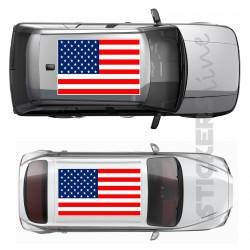 Adesivo tetto auto bandiera AMERICANA adesivi capote fuoristrada MIS. maxi