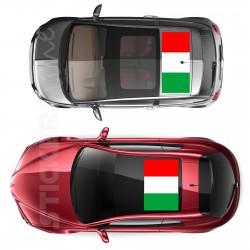 Adesivo tetto auto bandiera ITALIANA adesivi capote fuoristrada MIS. piccola