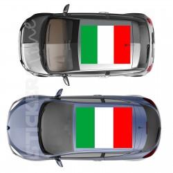 Adesivo tetto auto bandiera ITALIANA adesivi capote fuoristrada MIS. media