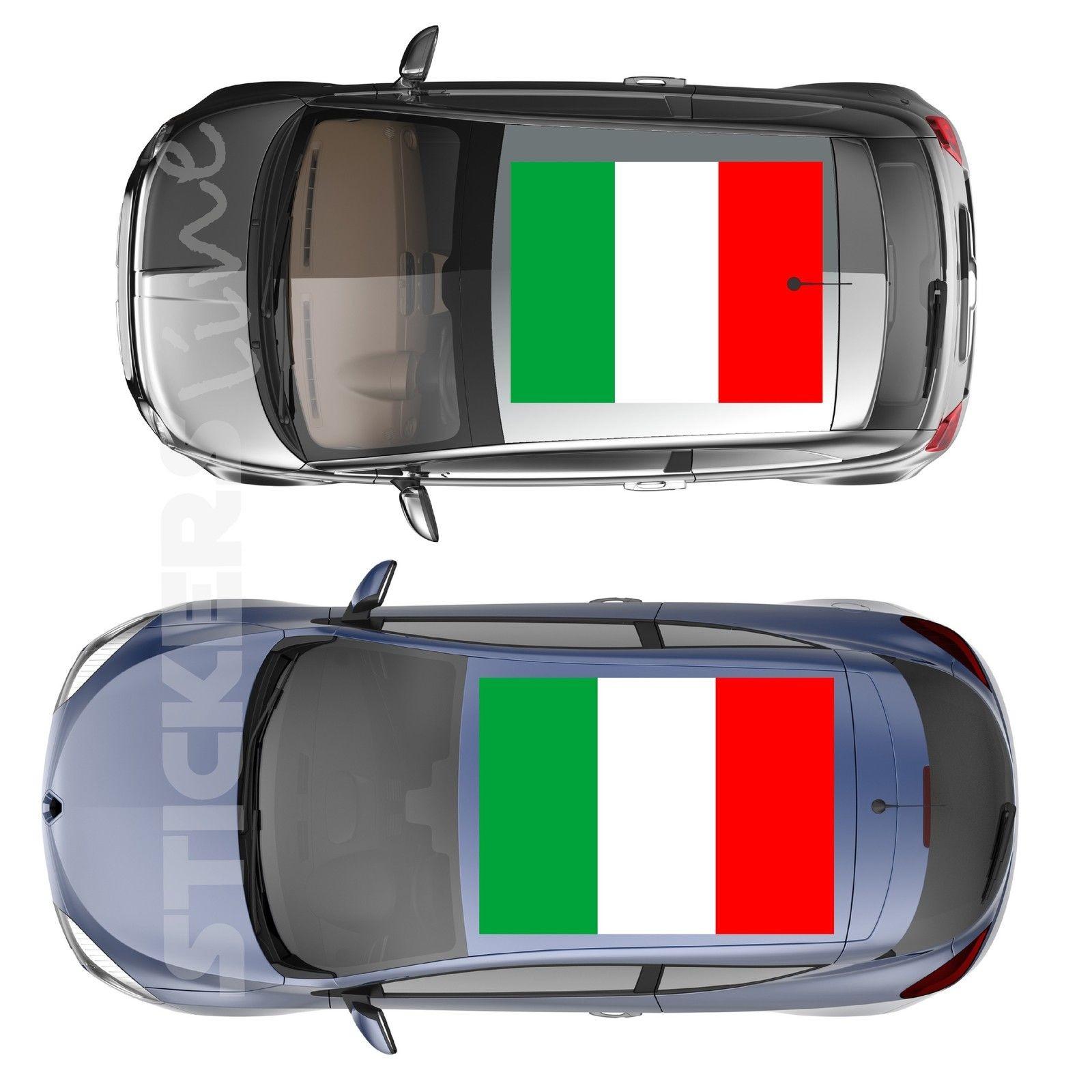 Adesivi bandiera ITALIANA strappo stickers cm 100