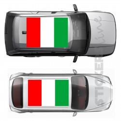 Adesivo tetto auto bandiera ITALIANA adesivi capote fuoristrada MIS. maxi