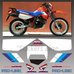 Kit adesivi Honda XL 600 RM 1986/90 stickers xl 600rm mod. Rosso decal xl600rm