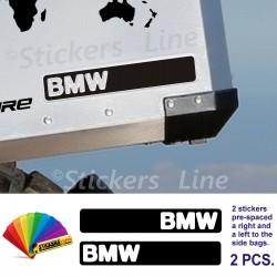 2 Adesivi BMW valigie in alluminio borse R1200GS Adventure bags stickers bmw gs