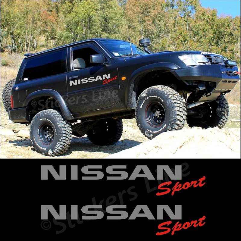 Adesivi Stickers Fuoristrada Nissan Sport 4x4 Patrol Terrano Navara