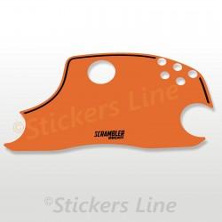 Adesivo Cupolino Ducati Scrambler colore arancio orange alta qualità