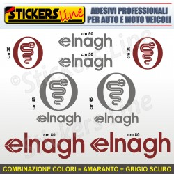 Kit completo 8 adesivi camper ELNAGH loghi stickers caravan roulotte decal M.1