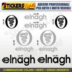 Kit completo 8 adesivi camper ELNAGH loghi stickers caravan roulotte decal M.2