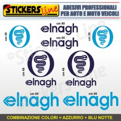 Kit completo 8 adesivi camper ELNAGH loghi stickers caravan roulotte decal M.3
