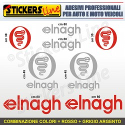 Kit completo 8 adesivi camper ELNAGH loghi stickers caravan roulotte decal M.4
