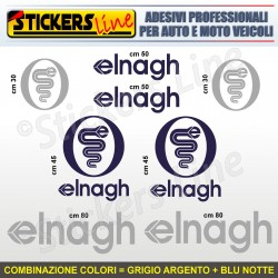 Kit completo 8 adesivi camper ELNAGH loghi stickers caravan roulotte decal M.5