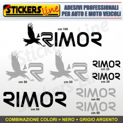 Kit completo 8 adesivi camper RIMOR loghi stickers caravan roulotte decal M.2