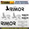 Kit completo 8 adesivi camper RIMOR loghi stickers caravan roulotte decal M.2
