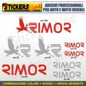 Kit completo 8 adesivi camper RIMOR loghi stickers caravan roulotte decal M.4