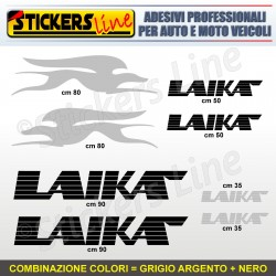 Kit completo 8 adesivi camper LAIKA loghi stickers caravan roulotte decal M.3