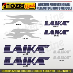 Kit completo 8 adesivi camper LAIKA loghi stickers caravan roulotte decal M.4