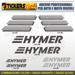 Kit completo 8 adesivi camper HYMER loghi stickers caravan roulotte decal M.3
