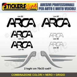 Kit completo 8 adesivi camper ARCA loghi stickers caravan roulotte decal M.2