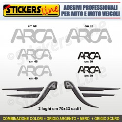 Kit completo 8 adesivi camper ARCA loghi stickers caravan roulotte decal M.3