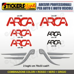 Kit completo 8 adesivi camper ARCA loghi stickers caravan roulotte decal M.4
