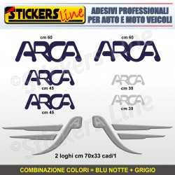 Kit completo 8 adesivi camper ARCA loghi stickers caravan roulotte decal M.5