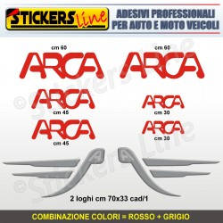 Kit completo 8 adesivi camper ARCA loghi stickers caravan roulotte decal M.6