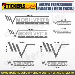 Kit completo 8 adesivi camper MOBILVETTA loghi stickers caravan roulotte M.1
