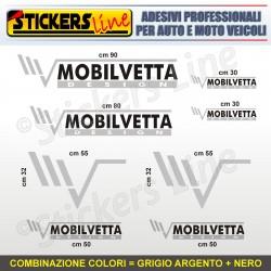 Kit completo 8 adesivi camper MOBILVETTA loghi stickers caravan roulotte M.2