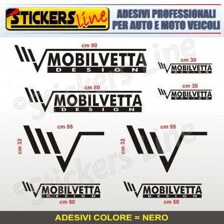 Kit completo 8 adesivi camper MOBILVETTA loghi stickers caravan roulotte M.4