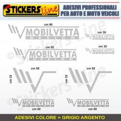 Kit completo 8 adesivi camper MOBILVETTA loghi stickers caravan roulotte M.5