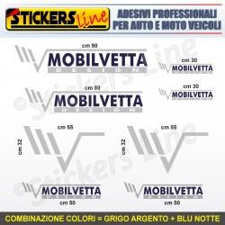 Kit completo 8 adesivi camper MOBILVETTA loghi stickers caravan roulotte M.6