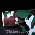 Pellicola mimetica pluviale EASY car wrapping auto moto camion mimetico esercito camouflage camo