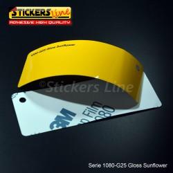 Pellicola adesiva 3M giallo girasole lucido serie 1080 cod. G25 adesivo cast film gloss yellow car wrapping auto moto