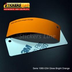 Pellicola adesiva 3M arancione brillante lucido serie 1080 cod. G54 adesivo cast film gloss orange car wrapping auto moto