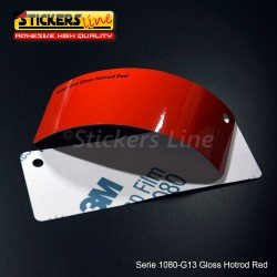 Pellicola adesiva 3M rosso corse lucido serie 1080 cod. G13 adesivo cast film gloss red car wrapping auto moto