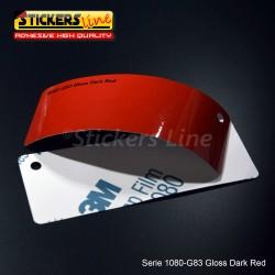 Pellicola adesiva 3M rosso scuro lucido serie 1080 cod. G83 adesivo cast film gloss red car wrapping auto moto