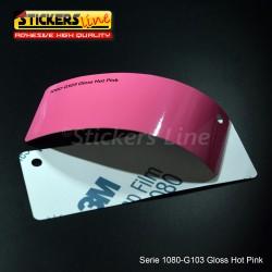 Pellicola adesiva 3M rosa lucido serie 1080 cod. G103 adesivo cast film gloss pink car wrapping auto moto